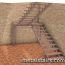 полноповоротная металлическая лестница